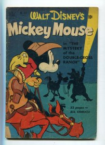 Dell Four Color 313 GD/VG Mickey Mouse Mystery Double Cross Ranch