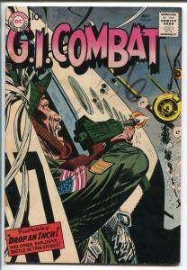 G.I. COMBAT #62 1958-DC- AIR WAR COVER-RUSS HEATH-MORT DRUCKER-JOE KUBERT-vg