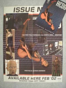 HEDG Promo poster + preview, 17 x 22, 2001, Unused, more in our stor