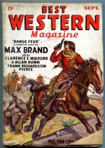 Best Western Pulp #1 September 1935- HOPALONG CASSIDY Max Brand G/VG