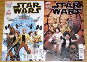 Star Wars #1 VF/NM new marvel comics + bob mcleod variant (1:25) 1st prints 2015