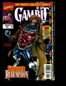 Lot Of 11 Gambit Marvel Comics # 1 2 3 1 2 3 4 6 7 8 9 Limited Series X-Men EK10