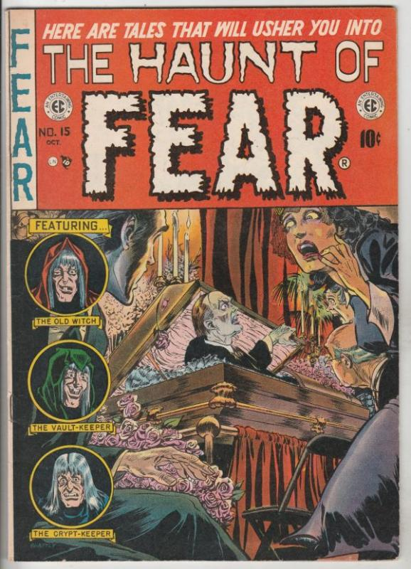 Haunt of Fear, The CGC #15 (Oct-52) FN Mid-Grade Crypt Keeper, Vault Keeper, ...