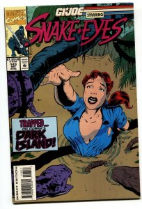 G.I. JOE #143 1993- late issue low print run- Snake Eyes VF