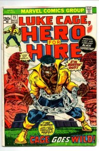 Luke Cage POWER MAN #15, VG+, 1973, Kung-Fu, Hero for Hire, more in store