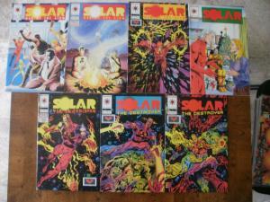7 Valiant SOLAR MAN OF THE ATOM Comic Book: #26 #27 #29 #31 #33 w/ card #34 #35