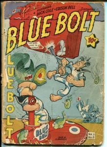 Blue Bolt Vol 3 #8 1943-Phantom Sub-Sgt Spook-Dick Cole-Sub-Zero-PR/FR