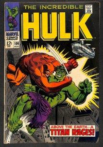 Incredible Hulk (1968) #106 VG+ 4.5 2nd Missing Link! Marvel Comics