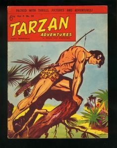 TARZAN ADVENTURES v9 #30 EDGAR RICE BURROUGHS-JUNGLE-BRITISH FN
