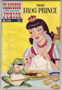 Classics Illustrated Junior #526 (May-56) GD Affordable-Grade The Frog Prince
