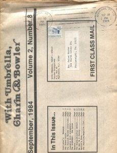 WITH UMBRELLA, CHARM & BOWLER-#8--1984--AVENGERS TV SERIES FANZINE-DIANA RIGG