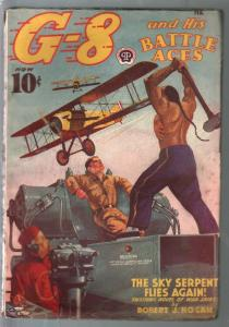 G-8 and His battle Aces 2/1939-Hero pulp-Chu Lung-Sky Serpent-VG