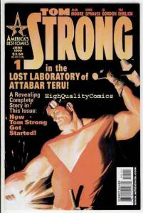 TOM STRONG #1, VF/NM, Alan Moore,  Alex Ross, Robot, Jetpack, 1999