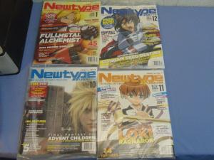4 NEW Newtype USA Anime Manga Fandom Magazines Fullmetal Gundam Final Fantasy +