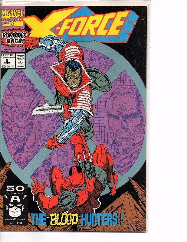 Marvel Comics X-Force Vol. 1 #2 Deadpool Rob Liefeld