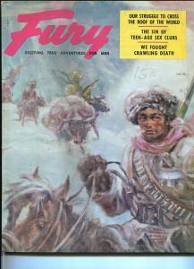 Fury 1/1956-Weider-Benton Clark cover-spicy women pirates-hanging-murder-VG+