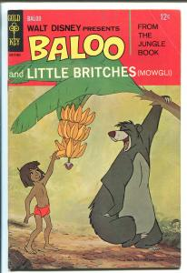 BALOO AND LITTLE BRITCHES #1 1968-GOLD KEY-WALT DISNEY-THE JUNGLE BOOK-fn minus