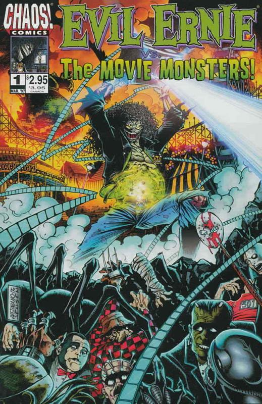 Evil Ernie vs. the Movie Monsters #1 FN; Chaos | save on shipping - details insi