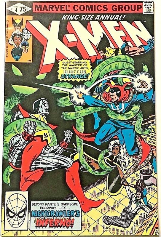UNCANNY X-MEN ANNUAL#4 VF 1980 MARVEL BRONZE AGE COMICS