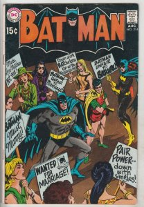 Batman #214 (Aug-69) FN+ Mid-High-Grade Batman