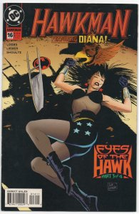 Hawkman #16, FN/VF ( the Winged Warrior and the amazing Amazon, together!!)
