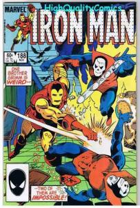 IRON MAN #188, NM, Jim Rhodes, Grimm Brothers, 1968, more IM in store