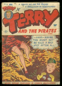 TERRY AND THE PIRATES #11 1948-SPICY LEGS COVER-CANIFF G/VG