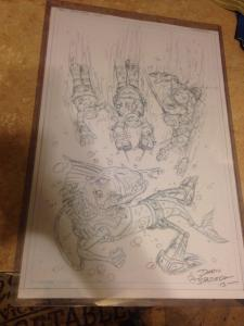 Teenage Mutant Ninja Turtles: New Animated Adventures #5 Original Cover Art