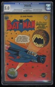 Batman #59 CGC VG/FN 5.0 Cream To Off White 1st Deadshot!