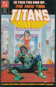 New Teen Titans, The (2nd Series) #19 FN; DC | save on shipping - details inside