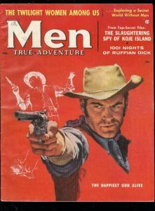 MEN MAGAZINE FEB 1957-JAMES BAMA ART-JUDY FOSTER-PULP FN