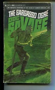 DOC SAVAGE-THE SARAGASSO OGRE-#18-ROBESON-VG- JAMES BAMA COVER-1ST EDITION VG