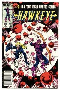 Hawkeye #3-1983-Newsstand variant-Comic Book-Marvel NM-