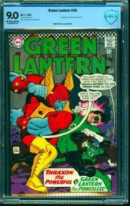 Green Lantern #50 CBCS VF/NM 9.0 Off White to White DC Comics