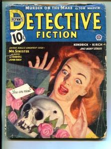 FLYNN'S DETECTIVE FICTION-APR 1944-MYSTERY-PULP-SATAN HALL-good/vg