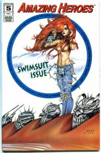 AMAZING HEROES SWIMSUIT ISSUE #5, NM, Joseph Linsner, 1993, more JML in store