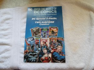 ENTER THE WORLD OF DC COMICS & YOUR FAVORITE SUPERHEROES CARBOARD AD.# 1