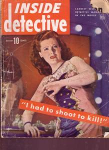 INSIDE DETECTIVE 1944 AUG WARTIME GOLF COURSE CRIME FR/G