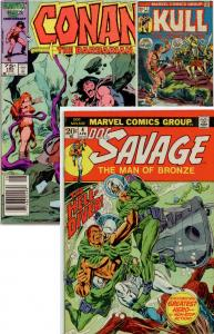 Conan 185, Doc Savage 4, Kull 7 (set of 3 comics)