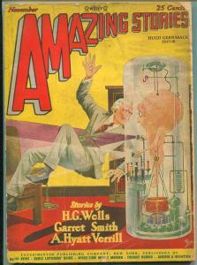 AMAZING STORIES NOVEMBER 1927-H.G. WELLS-FRANK R. PAUL-G-
