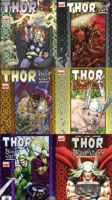 THOR BLOOD OATH (2005) 1-6  complete series!