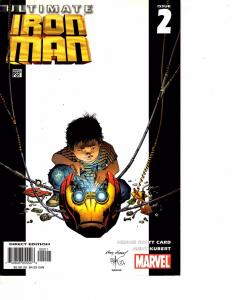 Lot Of 2 Marvel Comics Invincible Iron Man #504 and Ultimate Ironman #2 JB4
