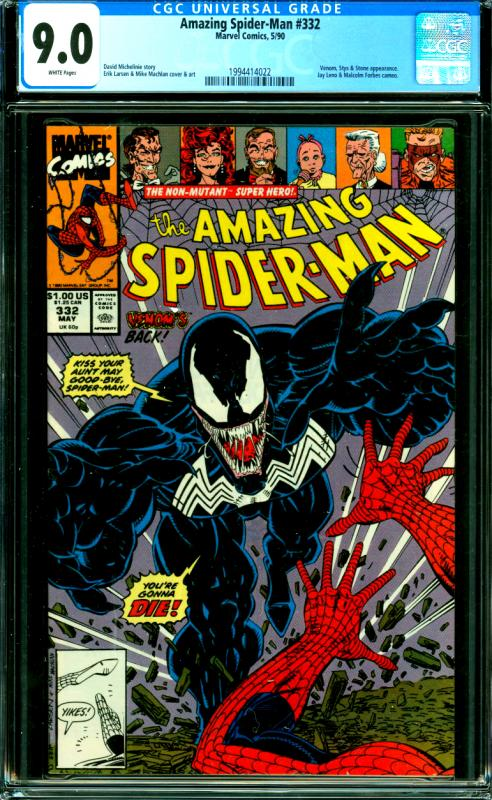 Amazing Spider-Man #332 CGC Graded 9.0