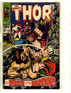 Thor # 152 FN- Marvel Comic Book Loki Odin Sif Avengers Hulk Iron Man GK4