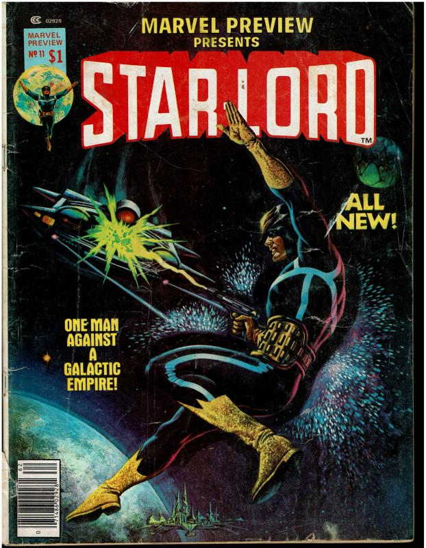 Marvel Preview Presents #11 *KEY* 2nd Appearance Starlord, VG/4.0