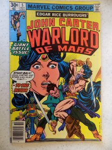 JOHN CARTER WARLOARD OF MARS # 5