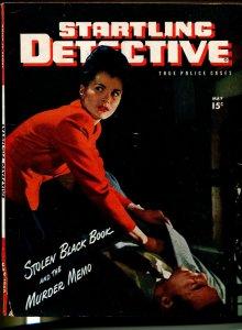 Startling Detective 5/1946-Fawcett-crime pix-murder-Alabama assassin-VG+