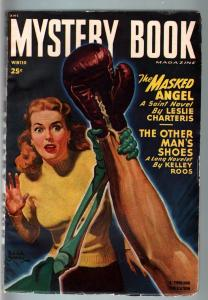 MYSTERY BOOK WIN 1948-SAINT STORY-BOXING COVER-FREDERIC BROWN-HARD BOILED FN