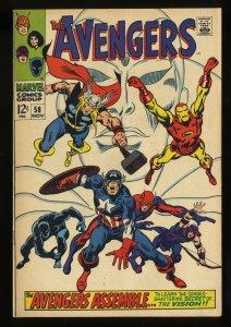 Avengers #58 FN/VF 7.0 2nd Vision! Marvel Comics Thor Captain America