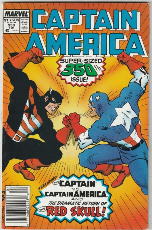 Captain America #350 (Feb-89) VF/NM High-Grade Captain America